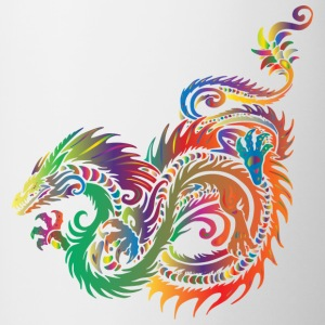 colorful dragon - Contrasting Mug
