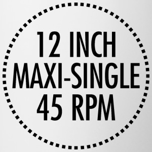 12 INCH MAXI-SINGLE 45 RPM VINYL (Black) - Contrasting Mug