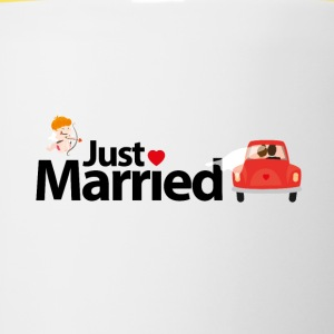 Just Married - Tasse zweifarbig