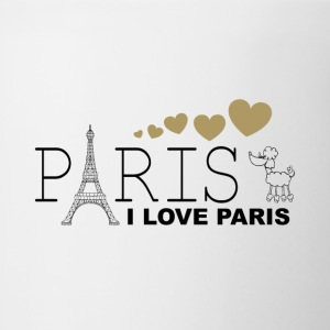 I Love Paris - Kubek dwukolorowy