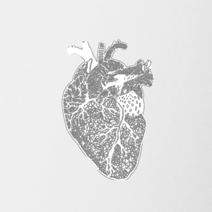 Heart, X-ray, Zentangle - Mok tweekleurig