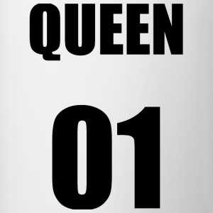 QUEEN01 T-SHIRT - Mok tweekleurig