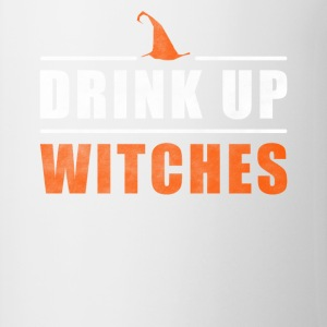 Halloween Drink Up sorcières tenue - Tasse bicolore