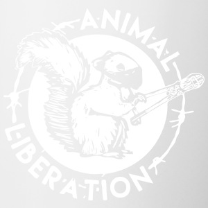 Animal Liberation ekorre - Tvåfärgad mugg