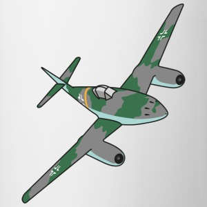 Me262 Jet Fighter - Kubek dwukolorowy