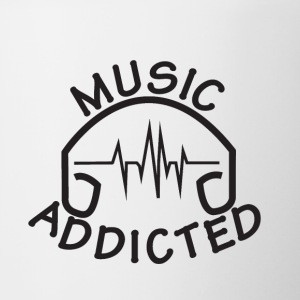 MUSIC_ADDICTED-2 - Kubek dwukolorowy