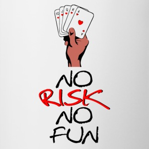 No Risk NO Fun - Tasse zweifarbig