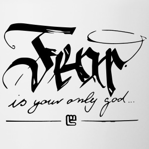 Fear is your only god - Contrasting Mug