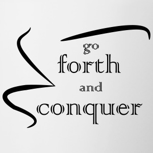 Forth and Conquer black - Contrasting Mug