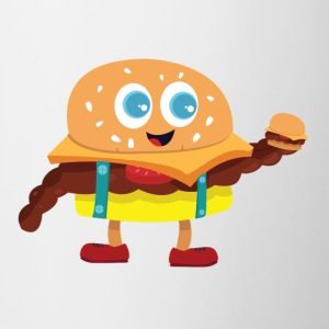 Cute Burger - Tofarvet krus
