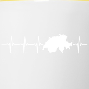 Switzerland, heartbeat design - Contrasting Mug