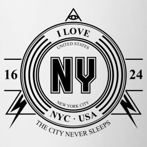 New York City Badge - Tasse bicolore