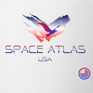 Space Atlas Tee USA - Tofarvet krus
