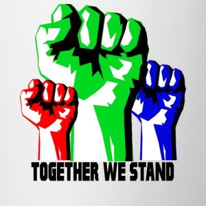 Sammen We Stand United! revolutionen - Tofarvet krus