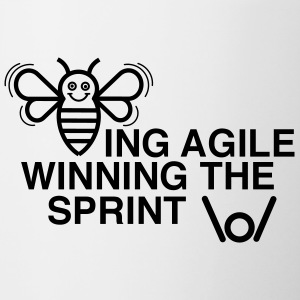 BEING AGILE WINNING THE SPRINT - Contrasting Mug