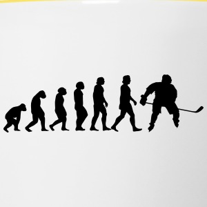 evolution hockey - Contrasting Mug