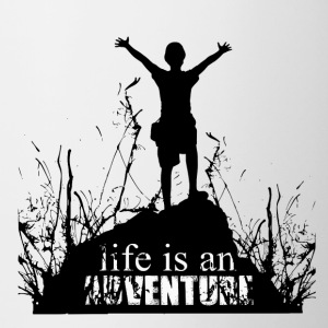 Life is an adventure - love for nature - Contrasting Mug