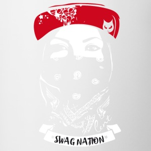 SWAG Nation cool Gangster Bandit Rapp street cat - Tasse zweifarbig