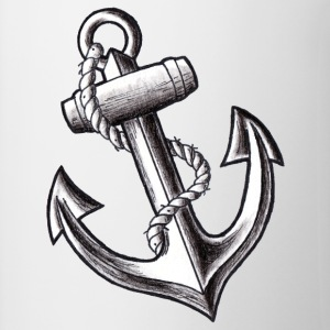 Anchor Tattoo Flash - Contrasting Mug