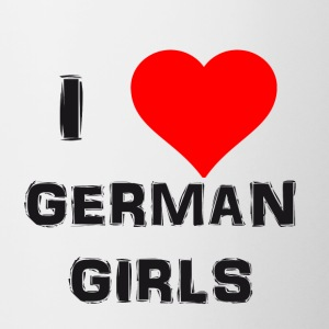 german girls - Tasse zweifarbig