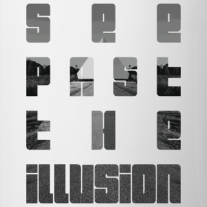 See past the illusion design by KylaCher Studio - Contrasting Mug