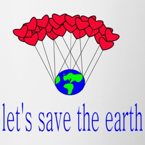 let-s_save_the_earth - Tasse zweifarbig