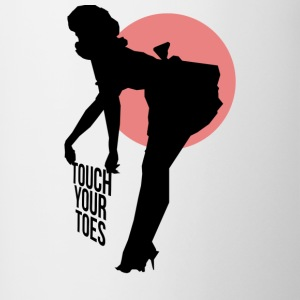 Vintage Girl - Touch Your Toes! - Contrasting Mug
