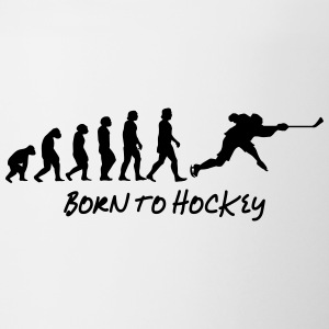 born to hockey - Tvåfärgad mugg