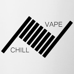Vape and Chill - Tasse bicolore