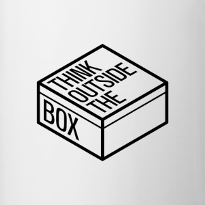 Think outside the box - Kubek dwukolorowy
