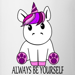 Unicorn Always be yourself - Contrasting Mug