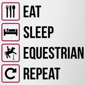 Eat Sleep Equestrian Repeat - Tasse zweifarbig