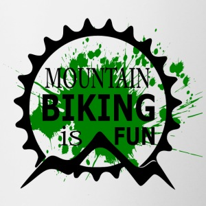 Mountain Biking is Fun - MTB Love - Contrasting Mug