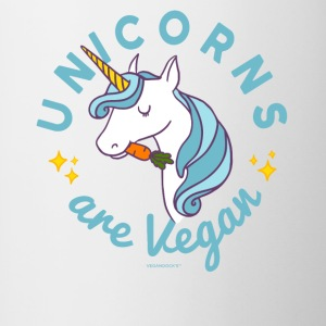 Unicorn T-shirt - Unicorns are Vegan (Blue Magic) - Contrasting Mug