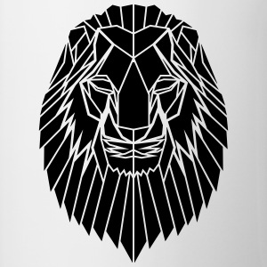 Edgy Geometric safari Lion Print by Stencilize - Contrasting Mug