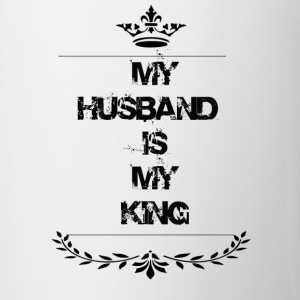 my husband is my king - Contrasting Mug
