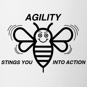 AGILITY STINGS YOU INTO ACTION - Tasse zweifarbig
