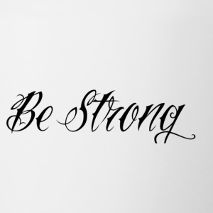 Be_Strong_ - Kubek dwukolorowy