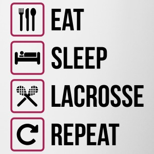 Eat Sleep Lacrosse Repeat - Tazze bicolor