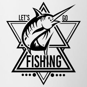 Lets go Fishing - We love Fishing - Tasse zweifarbig
