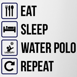 Eat Sleep Waterpolo Repeat - Mok tweekleurig
