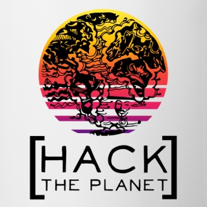 Hack the planet Motto T-Shirt - Tasse zweifarbig