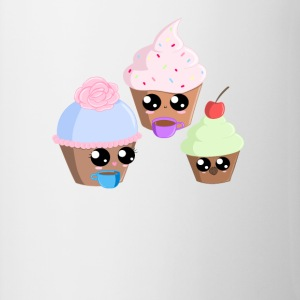 Cupcake Teaparty - Mok tweekleurig