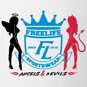 Angel Devil Freelife Sportswear - Tasse zweifarbig