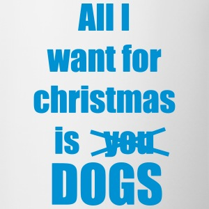Christmas song saying dog - Contrasting Mug