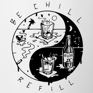 be chill refill ying yang - Tasse zweifarbig