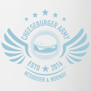 The official Cheeseburger Army logo - Tofarget kopp