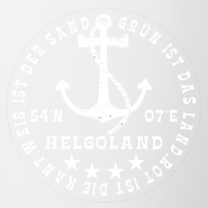 HelgolandLogo_Anker_white_hollow - Mok tweekleurig