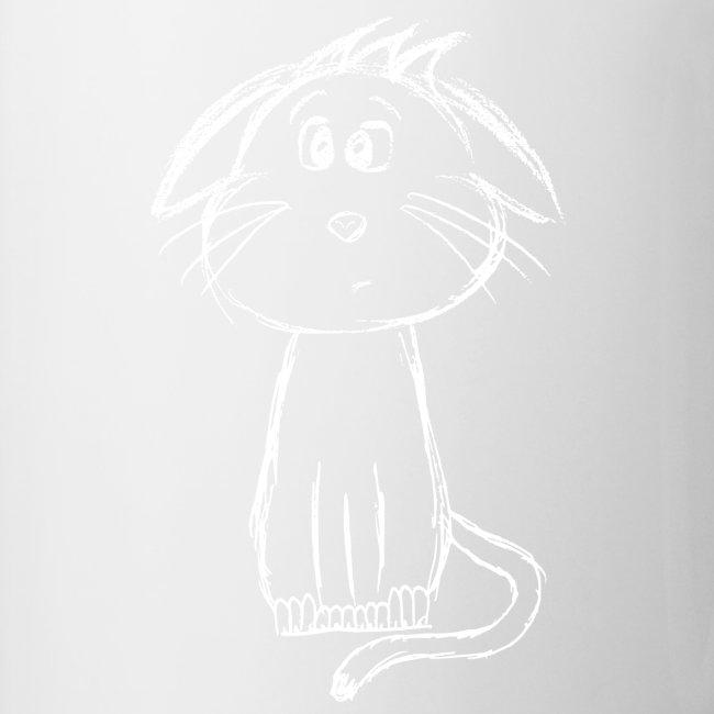 Kat kattunge hvid scribblesirii