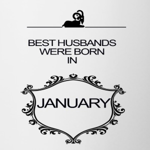 BEST HUSBAND WERE BORN IN JANUARY - Contrasting Mug